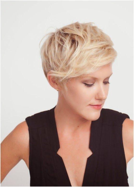 Short Layered Haircut with Side Bangs Summer Short-Messy-Hairstyl
