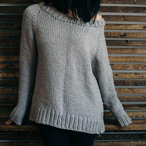 Undone Pullover Pattern | Knitting | Pinterest