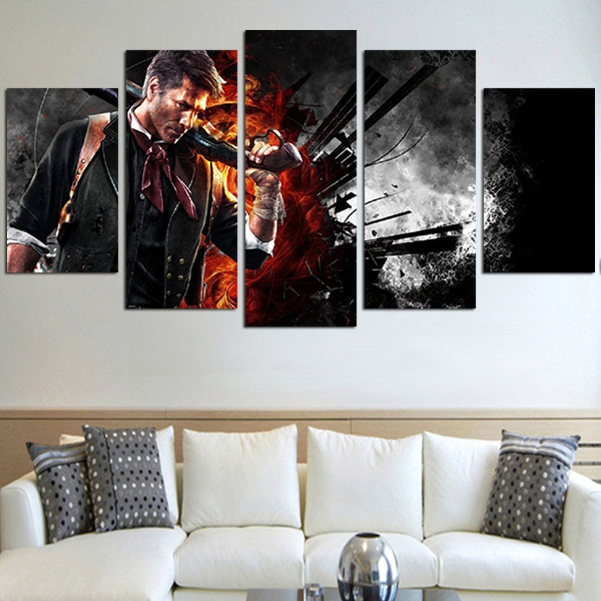 Booker dewitt bioshock infinite wall art canvas products canvas