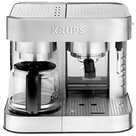 But In The Meantime I Ll Get This 299 Krups Xp604 Combination Espresso Machine Die Cast Best Espresso Machine Coffee And Espresso Maker Espresso Machine
