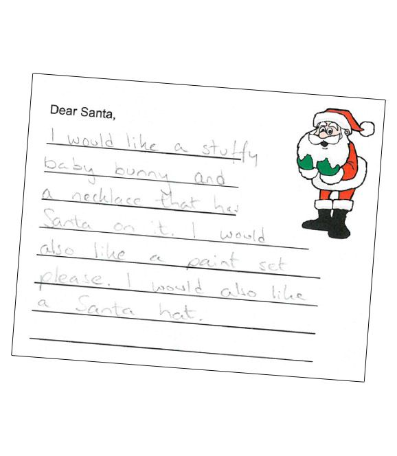 Letters To Santa This Child Is A Huge Fan SheS Requesting Santa