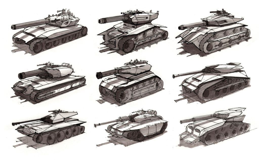 Video Game Design Sketches