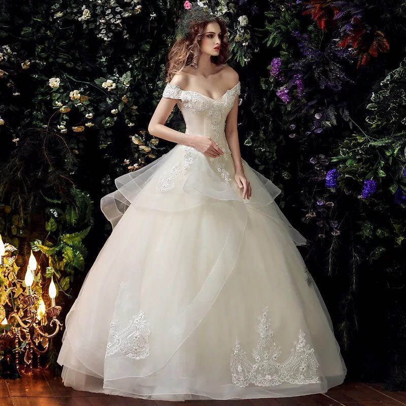 Find More Wedding Dresses Information about High Quality V Neck Lace ...