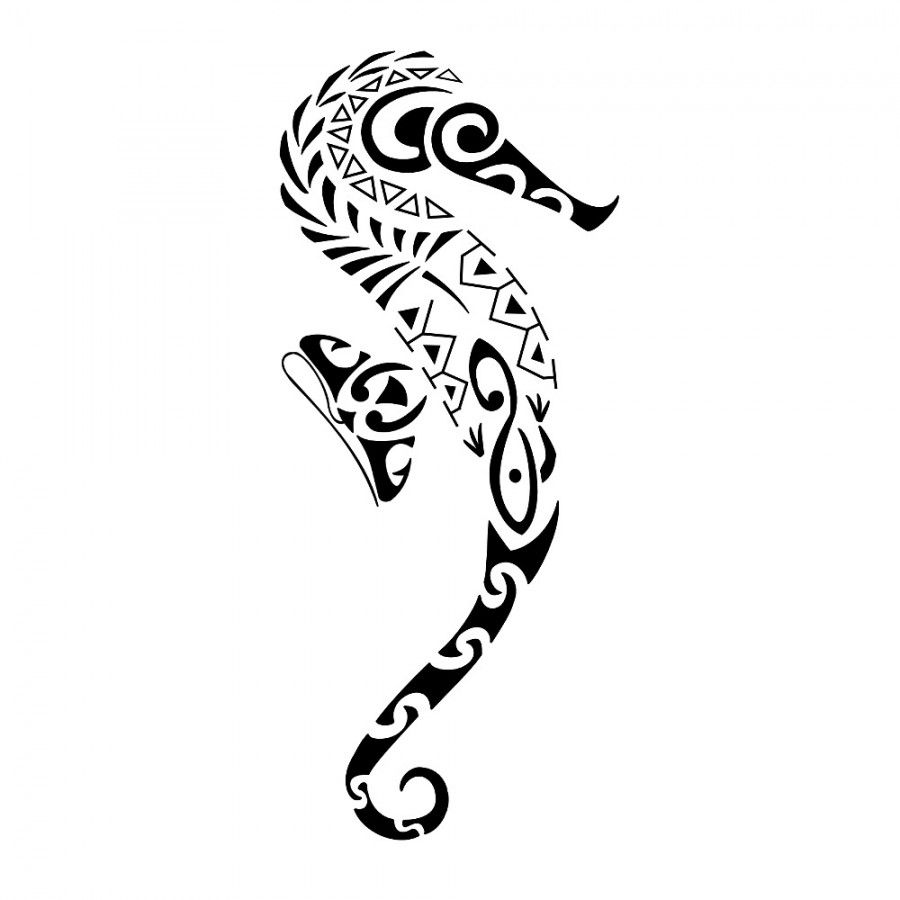 Seahorse Tattoo Design With Simple Black White Color Tattoomagz