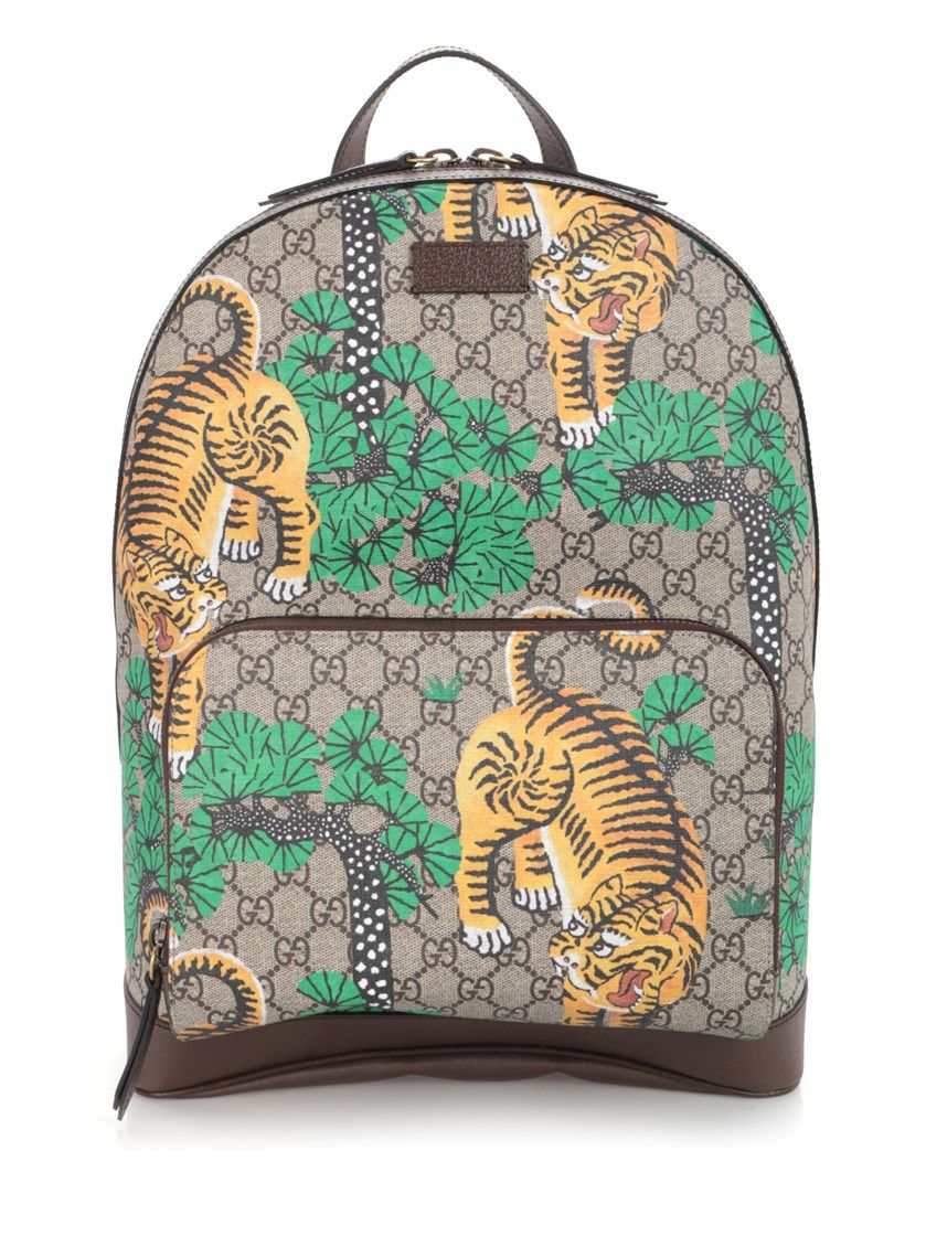 60b720778be GUCCI  Gucci Bengal  Backpack.  gucci  bags  leather  canvas  backpacks
