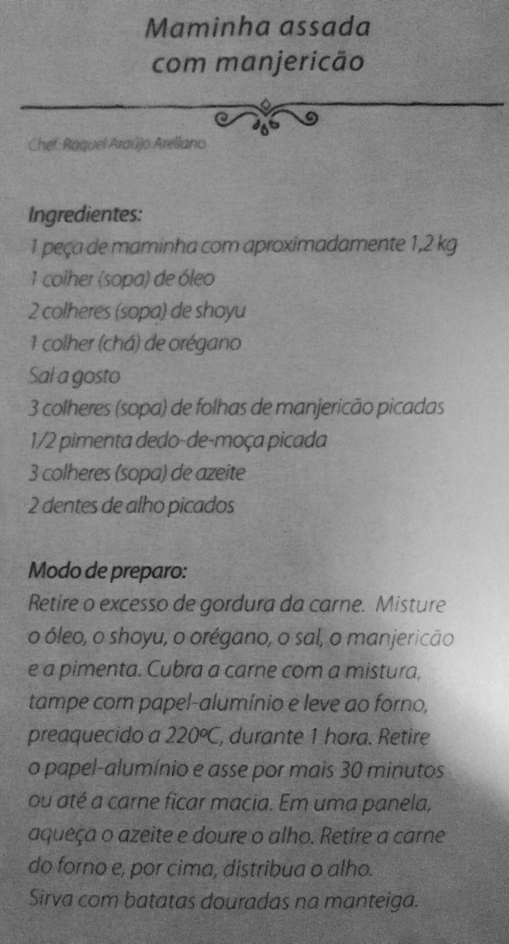 MAMINHA ASSADA COM MANJERICÃO