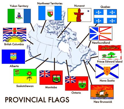 Canadian Provincial And Territorial Flags Canada Pinterest