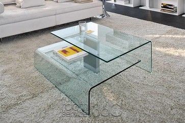 Harrow Italian Contemporary Glass Coffee Table Modern Coffee