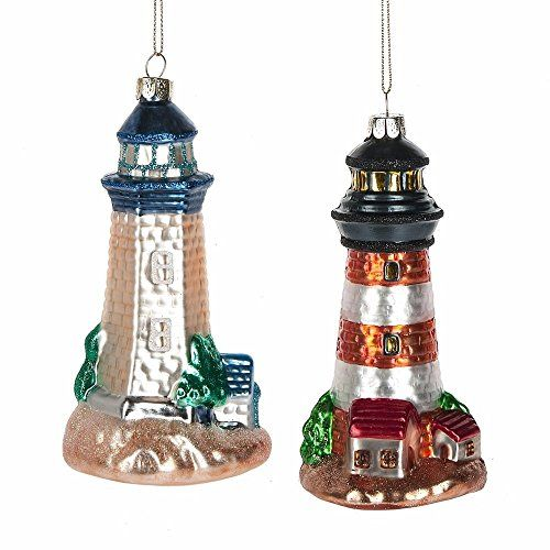 amazon lighthouse ornaments beach christmas ornaments nautical christmas christmas decorations lighthouse art - Christmas Lighthouse Decorations