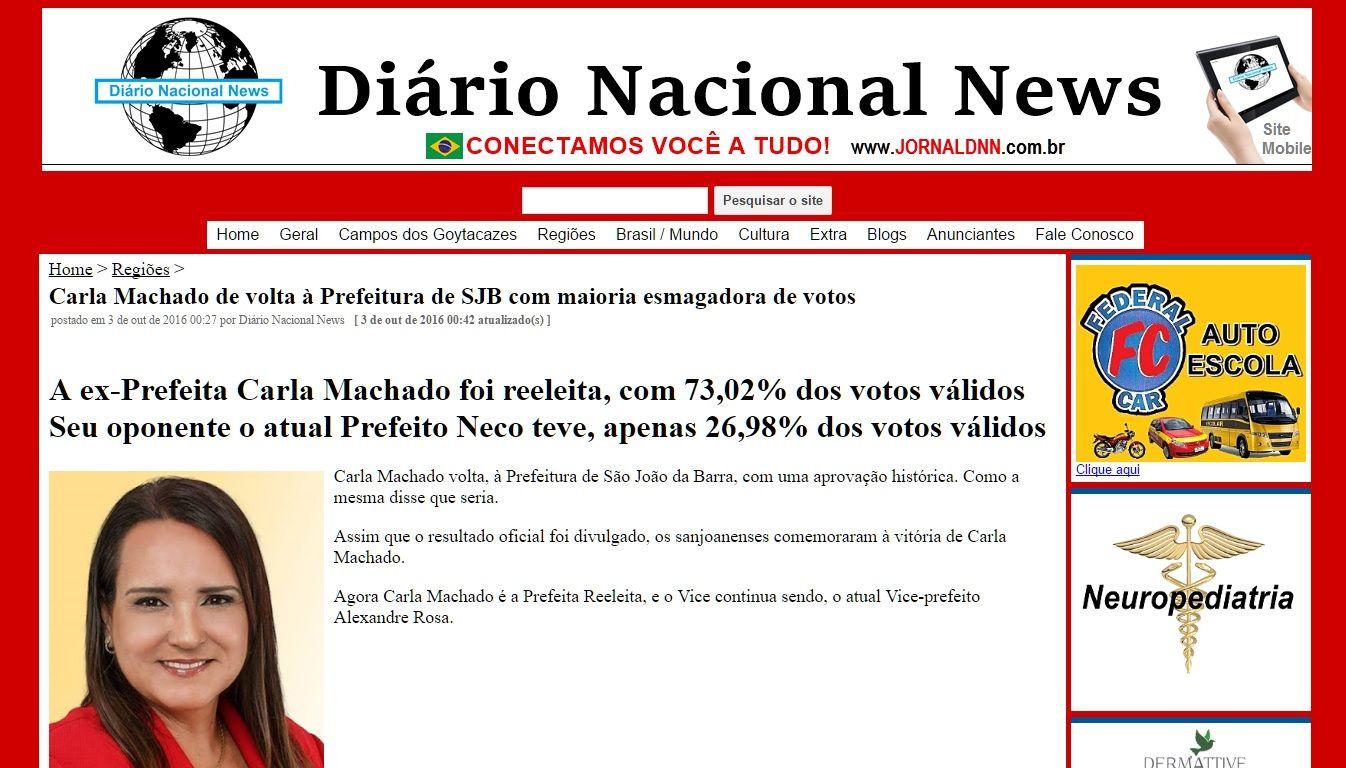 Carla Machado reeleita Prefeita de São João da Barra - RJ