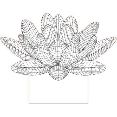 Heart With Flower 3d Illusion Lamp Vector File For Laser And Cnc 3bee Studio 3d Illusion Lamp 3d Illusions Illusions