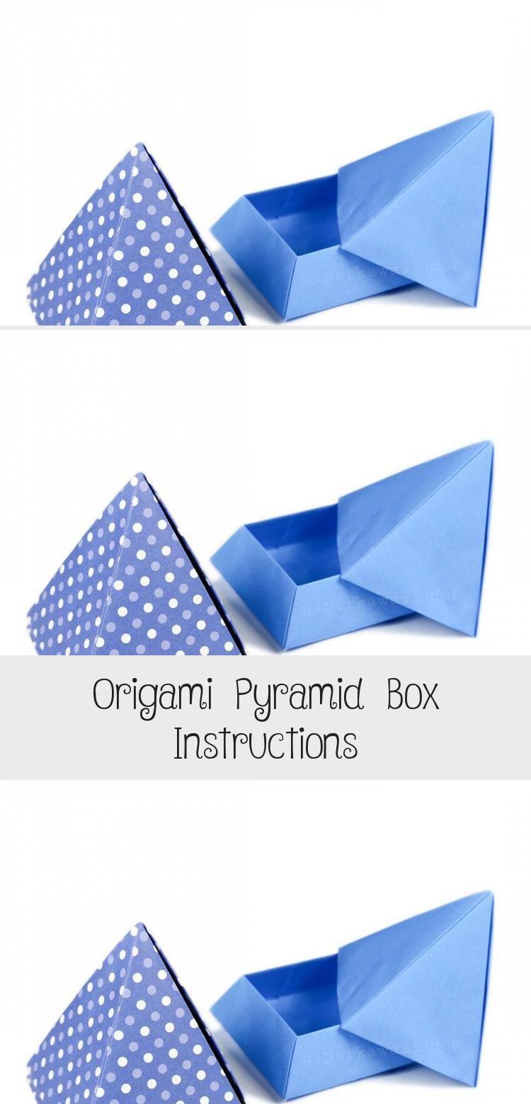 Photo of Origami Pyramid Box Anleitung über Papier Kawaii #origamiPlane #origamiBow #Man …