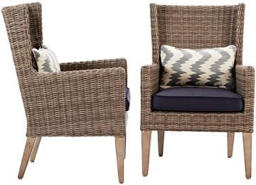 Attirant Naples Outdoor Arm Dining Chairs   Set Of 2