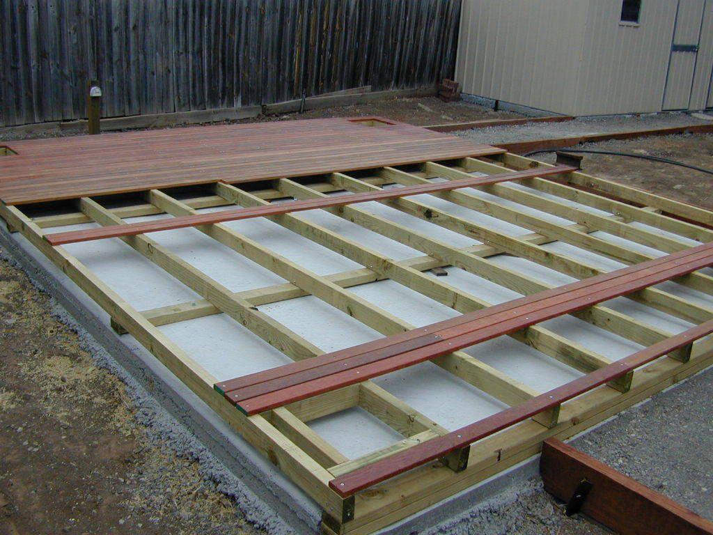 Decking Over Concrete Deck Over Concrete Concrete Patio Patio Installation