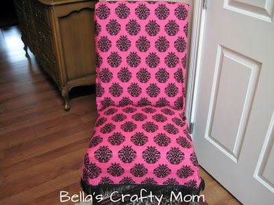 Making a Parson's Chair Slipcover (Bellas Crafty Mom)
