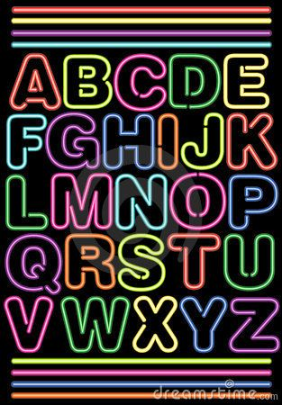 1fd33b387 Alfabeto de néon