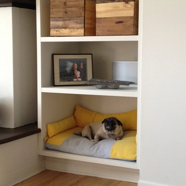 Bookshelf Turned Dog Bed Dog Home Decor Dog House Bed Dog Bed