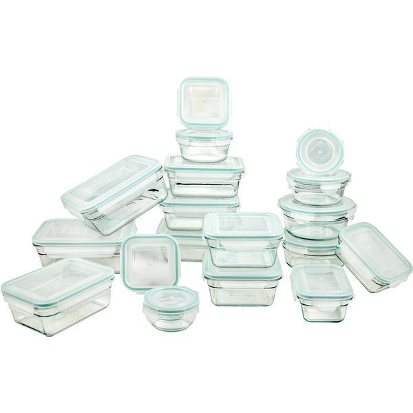 Glasslock Food Storage Container Sets Tempered Glasslock 18 Container Food Storage Set