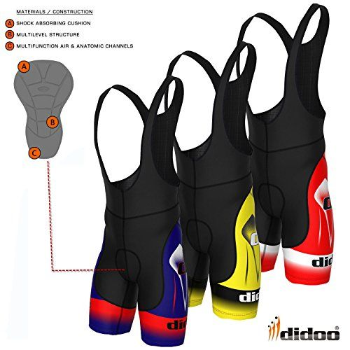 Didoo Men's Top Quality Cycling Bib Shorts Biking Racing Pants M Yellow Learn more by visiting the image link.