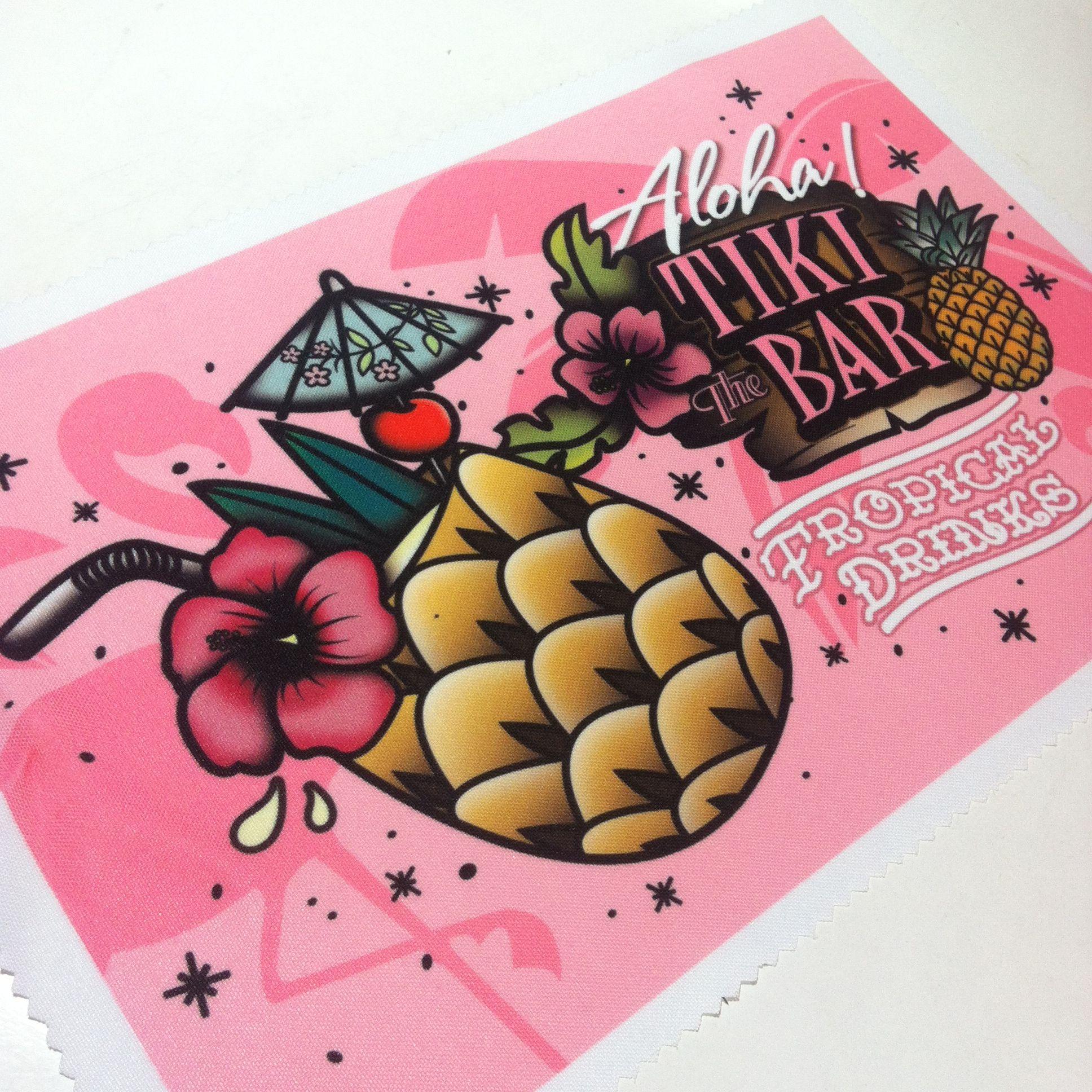 Tropical drinks fabric by Lubaabä