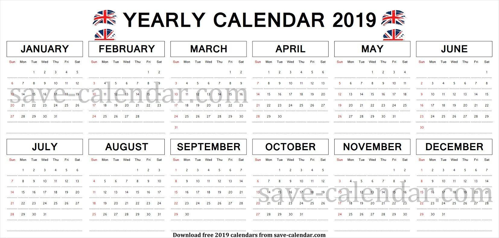 Calendar 2019 Uk Printable Uk Calendar 2019 Pinterest Calendar