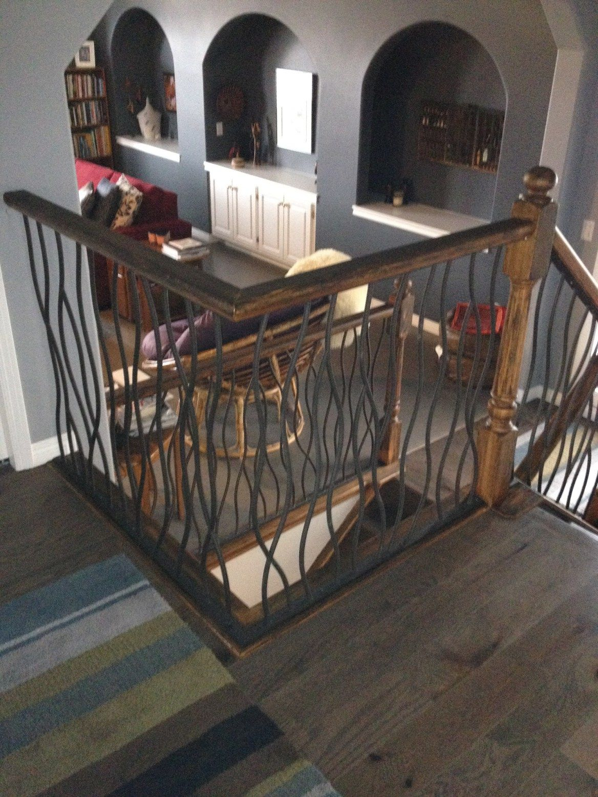 Best Bent Railing With Distressed Wood Finished 16 Indoor 400 x 300