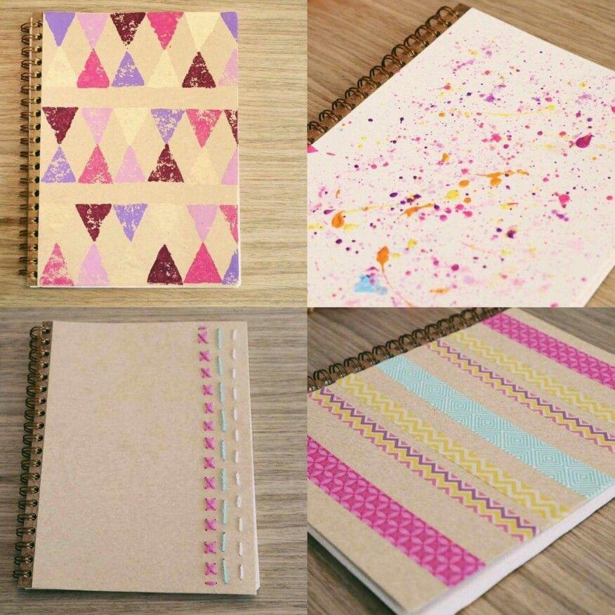 Ideas para decorar los cuadernos yuya decoraciones - Como decorar cuadernos ...