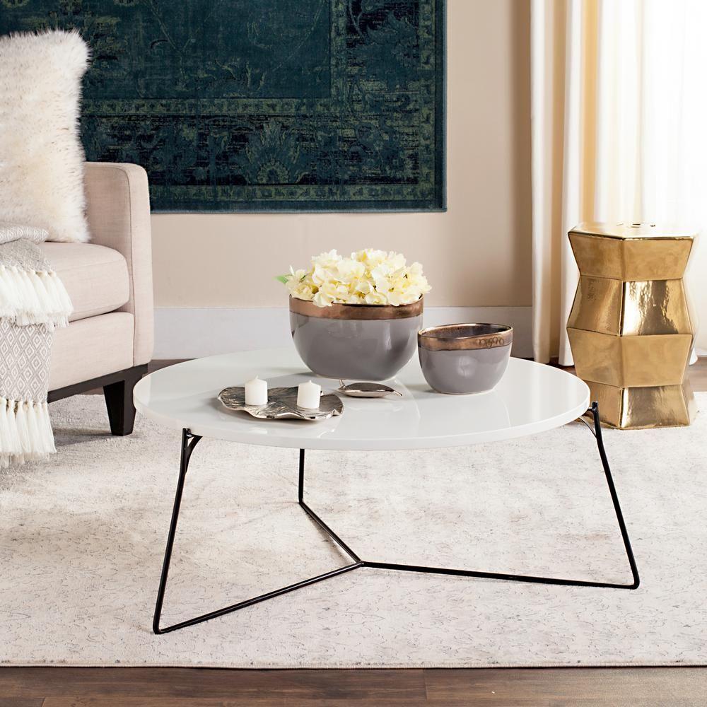 Mae Retro Mid Century Coffee Table Coffee Table Wood Coffee Table White [ 1000 x 1000 Pixel ]