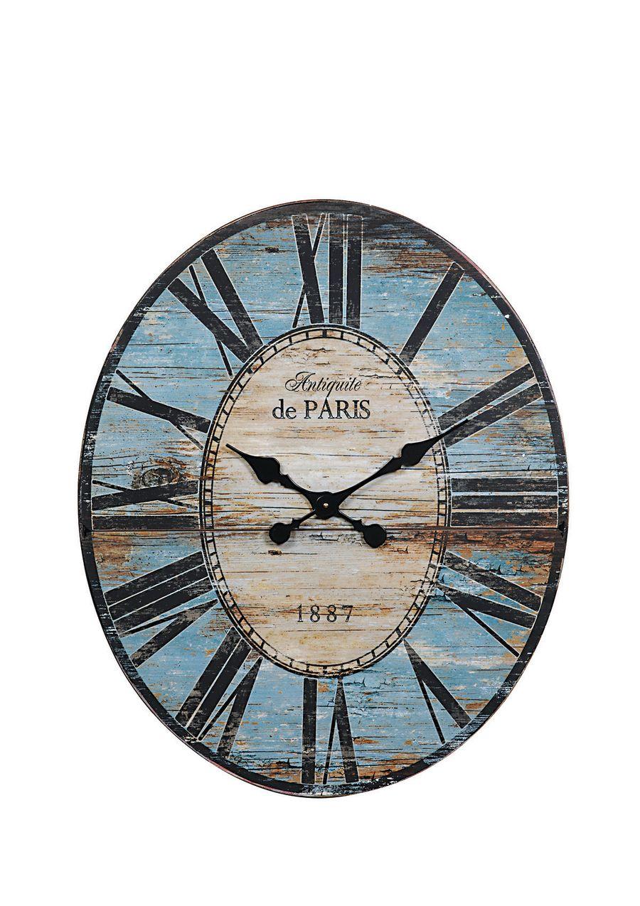 Creative Co Op Wood Paris Clock Grey Wall Clocks Paris Wall Clock Oversized Wall Clock