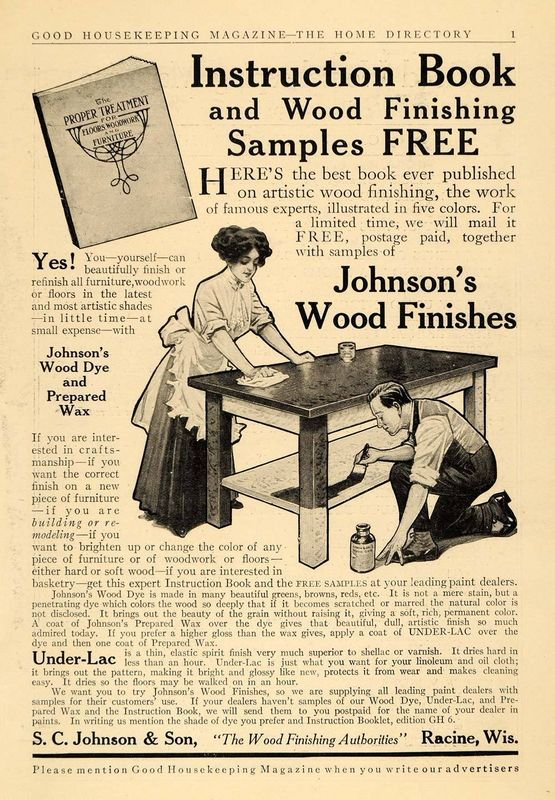 Advertising 1911 ad s c johnson son wood finishes racine under lac advertising 1911 ad s c johnson son wood finishes racine under lac wisconsin advertising vintage solutioingenieria Choice Image