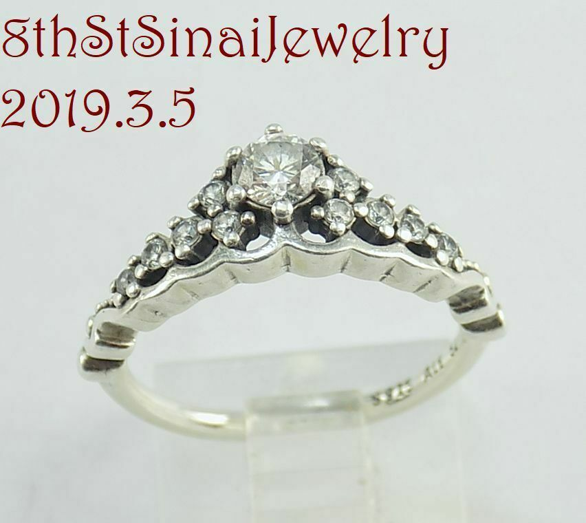c79de7bac Pandora Fairytale Tiara Ring, Clear CZ Sterling Silver 925 196226CZ Size  52/6 #Pandora #TiaraMIDIStackableBand