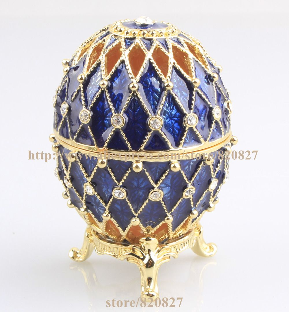 Home Craft jewelry box jewelry ornaments palace eggs Easter Egg ...