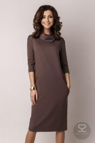 фото прямое платье до колен