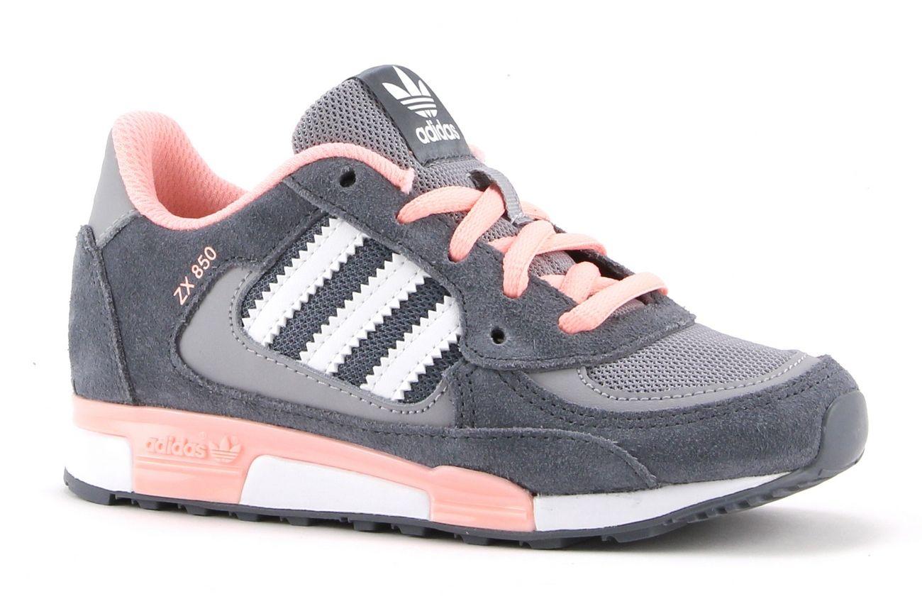 adidas zx 850 grijs roze dames