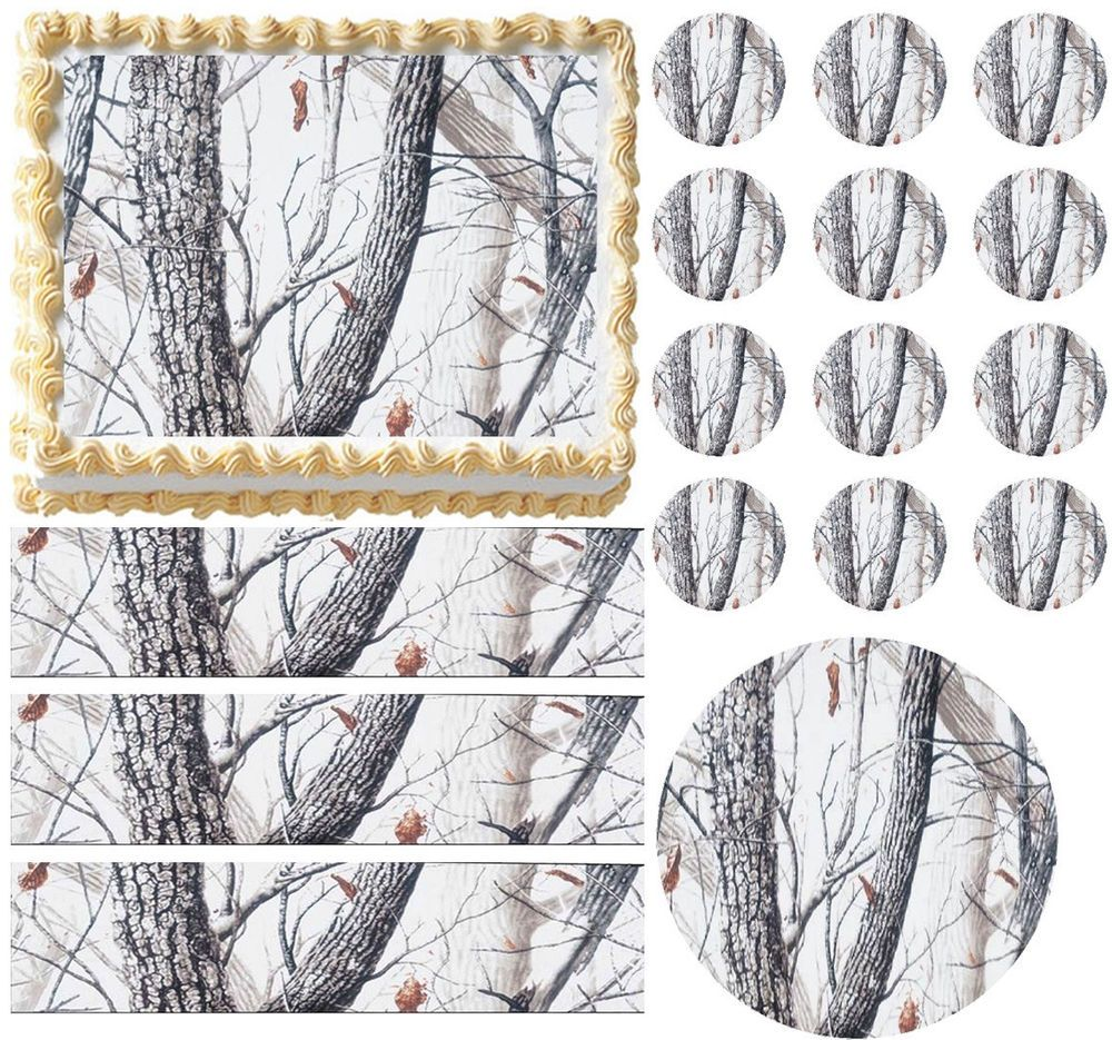 Realtree Real Tree Camo Print Edible Cake Topper Frosting Sheet Home & Garden All Sizes! Other Baking Accessories