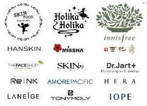 Selection Of Korean Cosmetic Brands