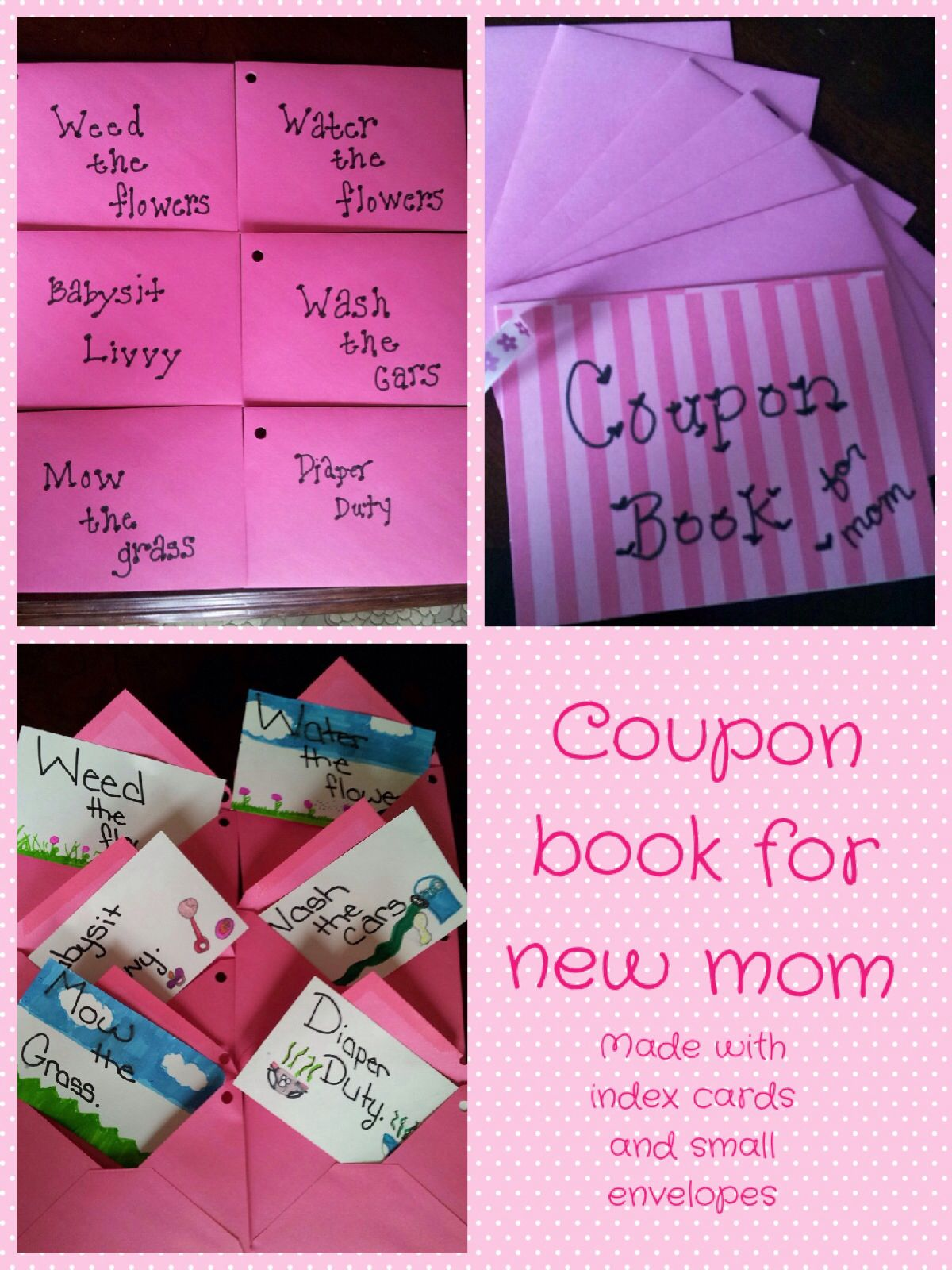 coupon book for new mom baby shower pinterest baby shower new