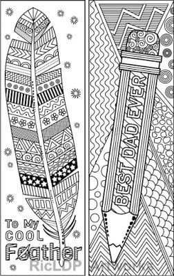 Set Of 8 Coloring Bookmarks For Daddy Father S Day Etsy Coloring Bookmarks Coloring Books Book Markers