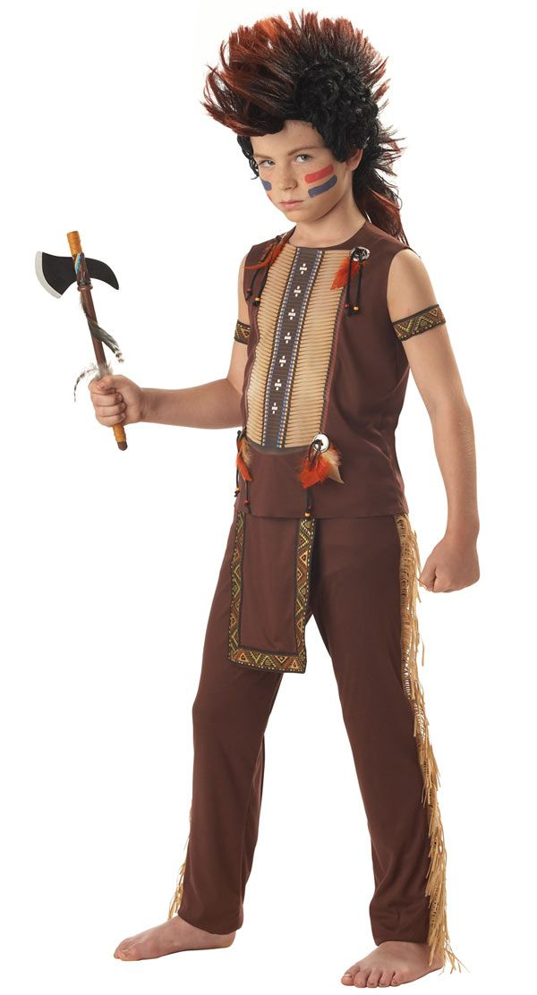 indian costumes kids | Indian Warrior Boys Costume - Native American Indian Costumes  sc 1 st  Pinterest & indian costumes kids | Indian Warrior Boys Costume - Native American ...