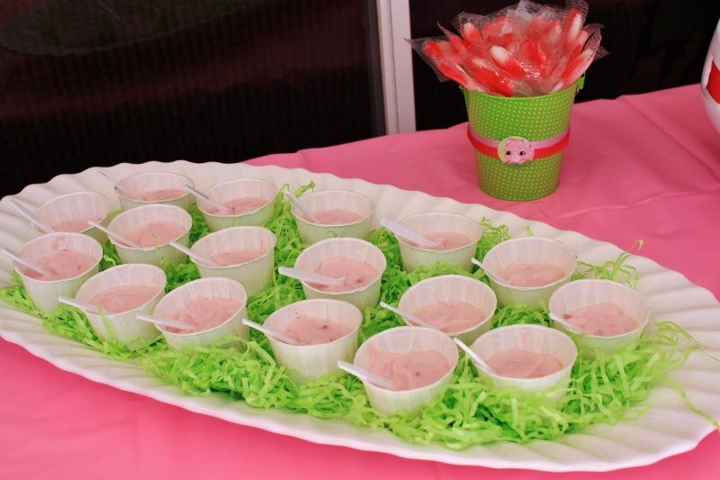Pink Green Food I Love And Together