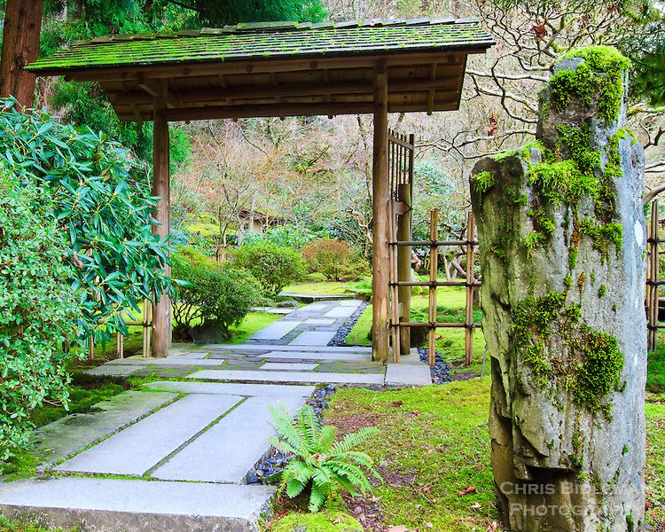 Japanese Gates And Entrances | Entrance Gate To The Outer Tea Garden With  Stone Path And