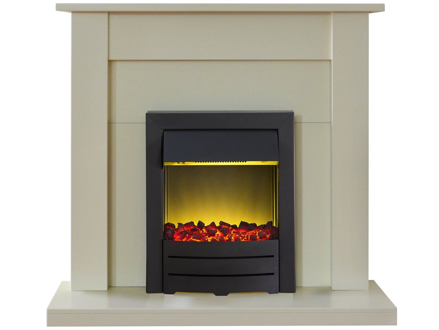 Adam sutton fireplace suite in cream with colorado electric fire in