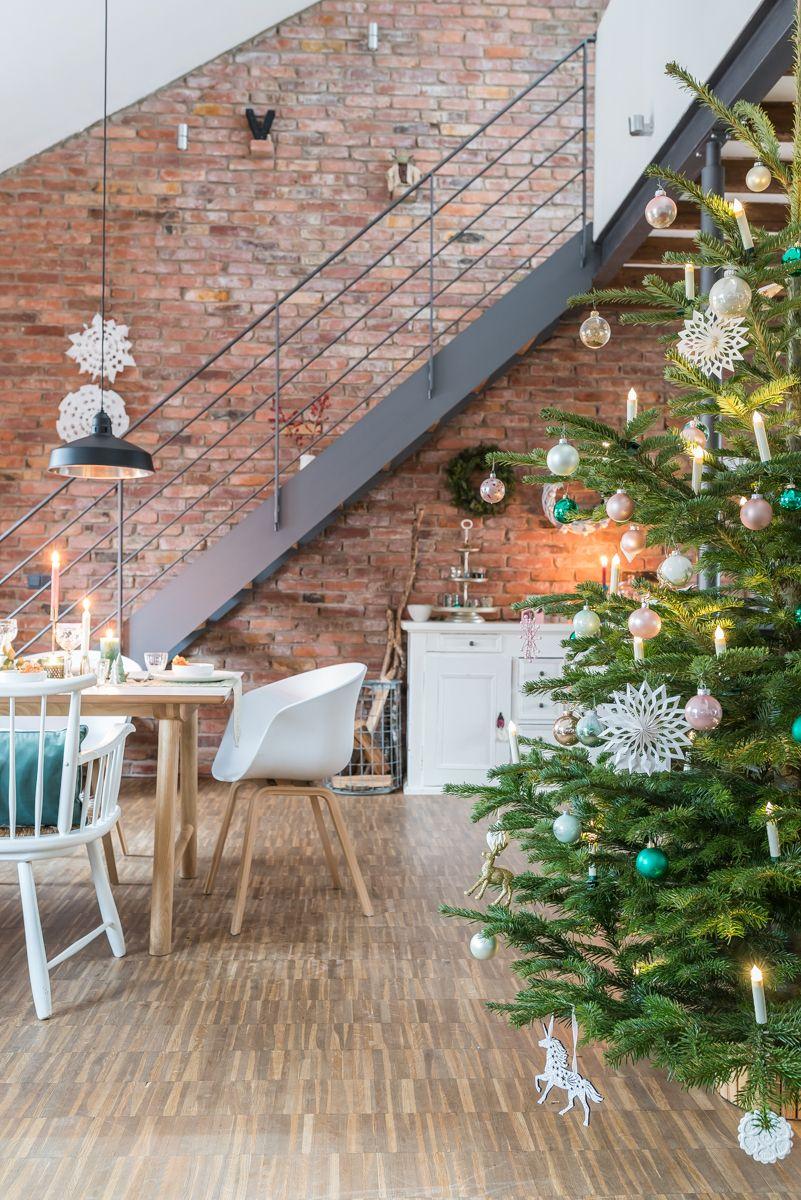 Meine Tischdeko fr Weihnachten in mintgrn und gold  Weihnachtsdeko  Pinterest  Christmas