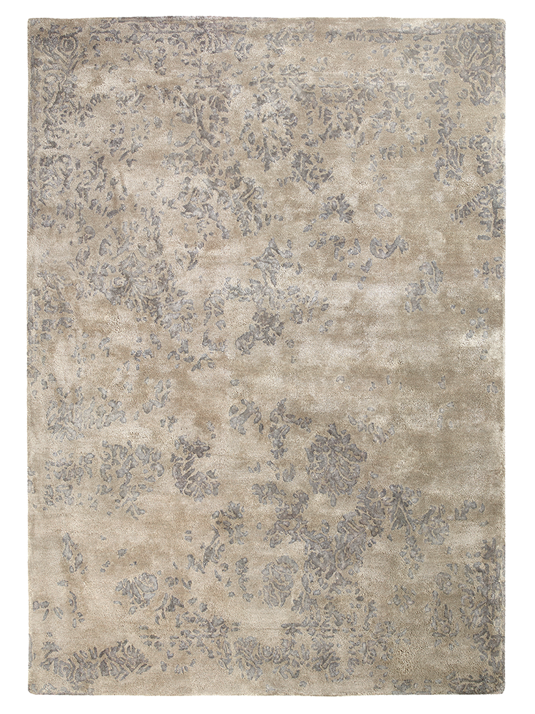 New Amira Faded Viscose Rug Rugs Vintage Shabby Chic Decor Silver Rug