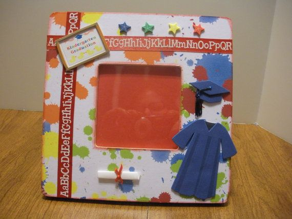 Kindergarten Graduation Picture Frame/ by TwoPreciousCreations, $18.00
