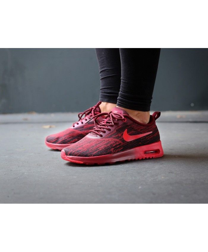 buy online 8b162 b0fe3 Nike Air Max Thea Jacquard Team Red Red Black Trainer