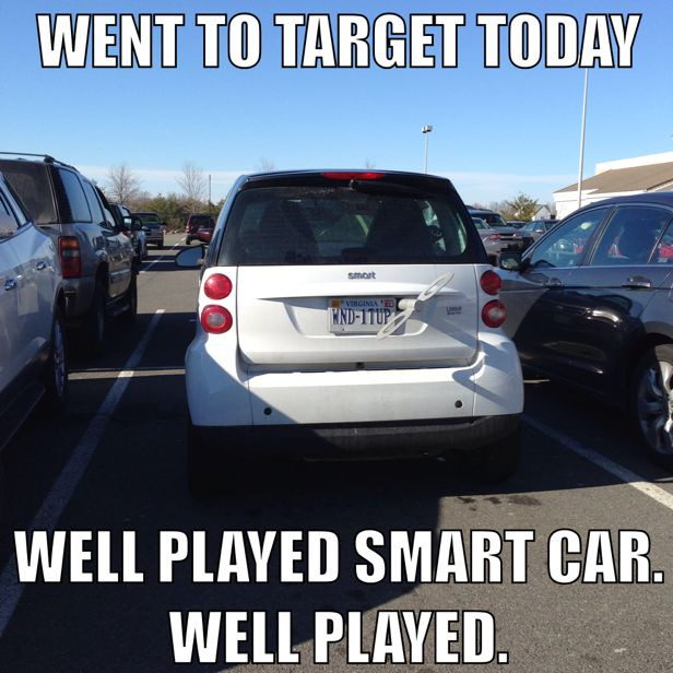 Smart Car Funny Meme Haha With Images Funny Car Memes Funny