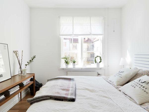 Schlafzimmer Ideen Bett Schlicht Minimalistisch