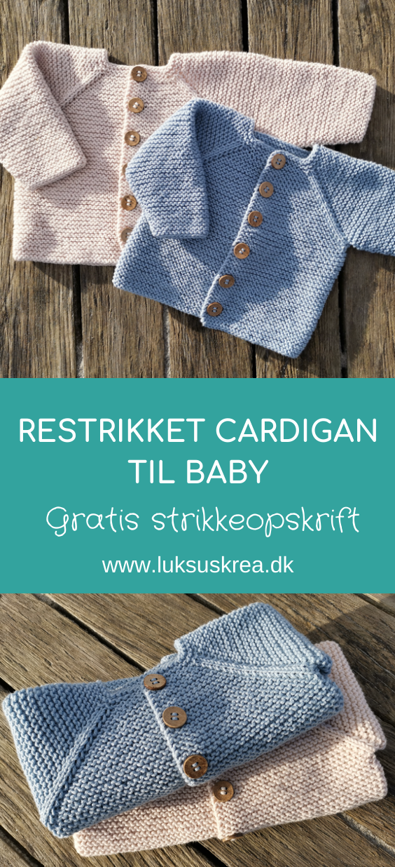 Retstrikket cardigan til baby   Luksuskrea.dk