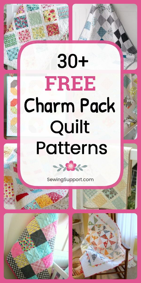 Free Charm Pack Quilt Patterns Free Quilt Patterns using Charm Pack fabric bundles 30 diy projects and tutorials for quilts using charm packs 5 inch squares